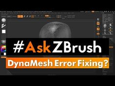 "(132) #AskZBrush: ""How can I fix DynaMesh 'Swiss Cheese' and 'Shattering'?"" - YouTube"