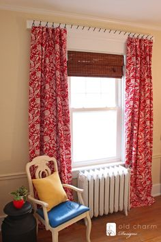 I've always shied away from curtains because installing curtain rods scares me for some reason. This might just make curtains something I can now face putting up! *** Curtains Hung with Forged Nails {DIY Curtain Rod!} - The Inspired Room