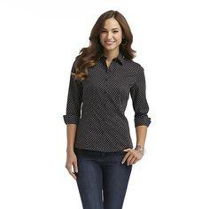 Covington Women's Dress Shirt - Polka Dot