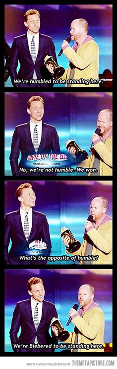 Best acceptance speech ever… Joss, like a boss.