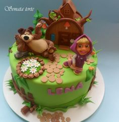 Masha and bear - by sonatatorte @ CakesDecor.com - cake decorating website