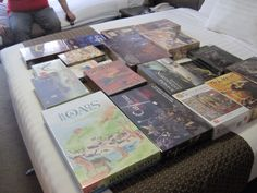 Our groups boardgame horde from CanCon 2014