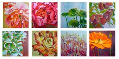 Peony Exuberance Flower Painting Tutorial With Acrylic And Pastel