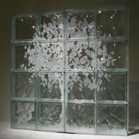 Etched on glass blocks