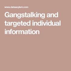 Gangstalking and targeted individual information
