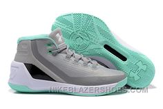 best cheap f66d3 fe194 Under Armour Stephen Curry 3 Shoes Grey White Green Cheap