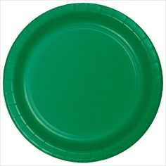 7 inch Roung Solid Paper Lunch Plate Emerald Green/Case of 240