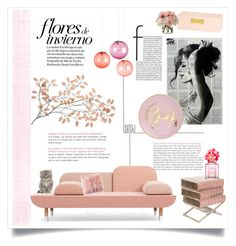 """""""Bubblegum Living"""" by alexandrazeres ❤ liked on Polyvore featuring interior, interiors, interior design, home, home decor, interior decorating, Fatboy, Kate Spade, Marc Jacobs and Diane James"""