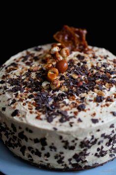 Tarta de Bailays y dulce de leche Tortas Deli, Cake Cookies, Cupcake Cakes, Cupcakes, Decadent Cakes, Winter Food, Cake Recipes, Food And Drink, Pudding