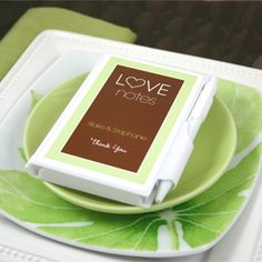 Buy the Personalized Love Notes Notebook Favors from Wedding Favors Unlimited today! Volume discounts available.