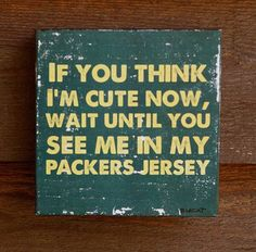Rustic GREEN BAY PACKERS Sign, Sports Fan Gift , Baby Shower Gift, Baby Boy Gift