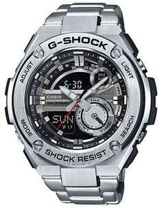 Casio Mens G-Shock G-Steel Watch - Analog - Digital - Stainless Steel - Bracelet http://www.thesterlingsilver.com/product/tag-heuer-mens-aquaracer-stainless-steel-watch-wan2111-ba0822/