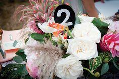 Fun quirkly flowers, Maine Wedding by True Event - custom signage from www.tiethatbindsweddings.com