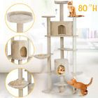 """80"""" Cat Tree Tower Scratching Post Condo Furniture Pet Kitty Play Toy House Bed"""