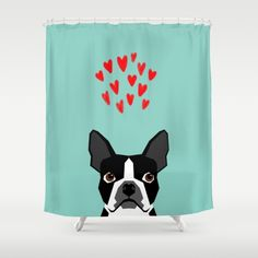 Boston Terrier - Hearts, Cute Funny Dog Cute Valentines Dog, Pet, Cute, Animal, Dog Love, - $68