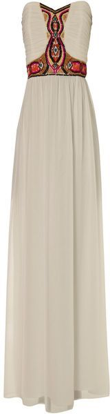 Jane Norman Tribal Bead Maxi in White. SO MUCH PERFECTION, I can't even...