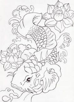How To Draw Koi Fish