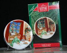 1990 Hallmark Keepsake Ornament Cookies For Santa Plate Ornament