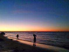 Pulverhexen's DIY: At the beach....sunset...my children