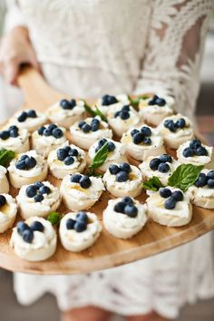 Ricotta and Blueberry Toasts. A lovely way to incorporate blue into the wedding. Delicious and all natural.