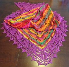 Butterfly Stitch Prayer Shawl By njSharon And DebiAdams - Free Crochet Pattern - (ravelry)