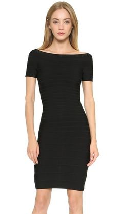 ¡Cómpralo ya!. Herve Leger Carmen Off Shoulder Dress - Black. Herve Leger puts a sophisticated twist on a signature, sleek fitting bandage dress with off shoulder sleeves and a boat neckline. Hidden back zip. Unlined. Fabric: Ribbed, mid weight jersey. 90% rayon/9% nylon/1% spandex. Dry clean. Imported, China. MEASUREMENTS Length: 31in / 79cm, from shoulder. Available sizes: M,S,XS,XXS , vestidoinformal, casual, informales, informal, day, kleidcasual, vestidoinformal, robeinformelle…