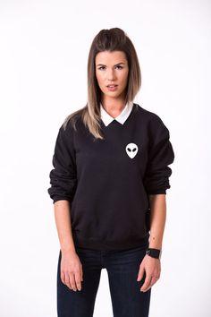 SALE Alien Crewneck Alien Sweatshirt Alien Sweater by EpicTees4You