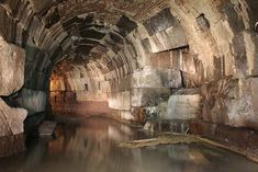 A sewer built during the reign of Emperor Domitian (81-96).