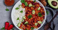 Veganes Chili sin Carne mit Basmati Reis ✓ Ein alternatives und gesundes Chili Gericht mit Tofu statt Hackfleisch ☆ Jetzt nachkochen!