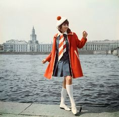 Vintage everyday: Beautiful Soviet Fashion of the 1960s and 1970s #60s #minidress