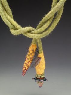 Gail Crosman Moore FELT jewelry, some more photos of her work