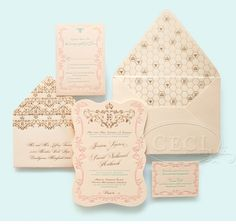 Vive la romance! Luxury Wedding Invitations by Ceci New York - Our Muse - Regal French-Inspired Wedding - Be inspired by Jessica and David's regal wedding in...