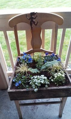 My very own chair planter ~