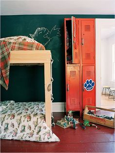 Love the artwork (and the rope ladder, and the retro lockers, and the...)