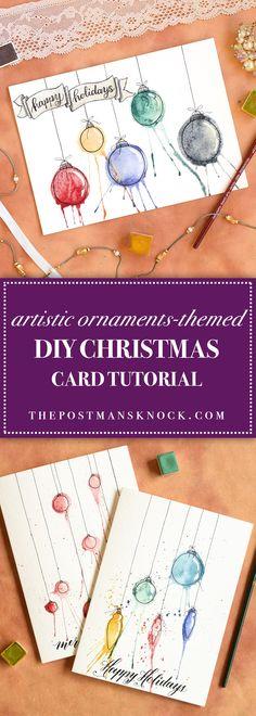 Artistic Ornaments-Themed DIY Christmas Card Tutorial