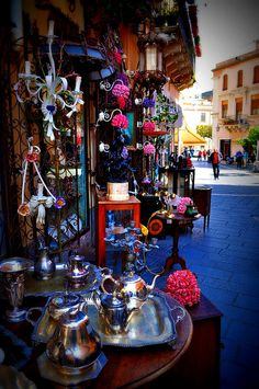 Sicilian Arts & Crafts Walk in Taormina, Sicily, Italy. Taormina has been a very popular tourist destination since the 19th century. It has popular beaches (accessible via an aerial tramway) on the Ionian sea, which is remarkably warm and has a high salt content. Taormina can be reached via highways (autostrade) from Messina from the north and Catania from the south.