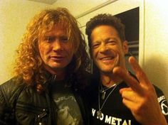 Dave Mustaine and Jason Newsted