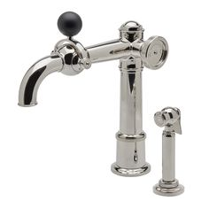 Luxury Kitchen Faucets Aid Washer 118 Best Images Taps On Tap One Hole High Profile Faucet With Metal Wheel Black Ball Handle And Spray