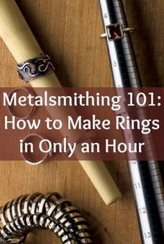 Learning how to make rings is demystified in this ring-making tutorial that shows you how to make rings in only an hour! diy jewelry making How to Make Rings in an Hour: Metalsmithing 101 Soldering Jewelry, Jewelry Tools, Wire Jewelry, Jewelry Crafts, Handmade Jewelry, Gold Jewelry, Wire Rings, Amber Jewelry, Tiffany Jewelry