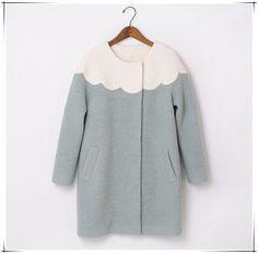 Handmade Green/White Wool Coat 0018