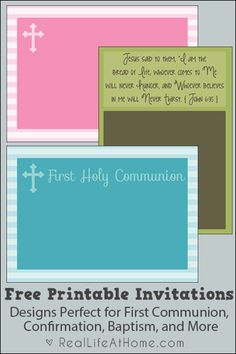 free printable first communion baptism and confirmation