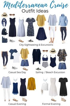 What to Pack for a Mediterranean Cruise – Packing List & Outfit Ideas! What to Pack for a Mediterranean Cruise – Packing List & Outfit Ideas!,Kleidung What to Pack for a Mediterranean Cruise –. Cruise Attire, Cruise Wear, Capsule Outfits, Fashion Capsule, Capsule Wardrobe Summer, Vacation Wardrobe, Holiday Wardrobe, Travel Wardrobe, Womens Clothing Stores