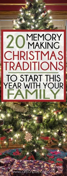 great FUN Christmas tra7832wdition ideas - Christmas Traditions are SO AWESOME!
