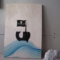 Fab.com | Jolly Narwhal  [Acrylic Paint on wood]