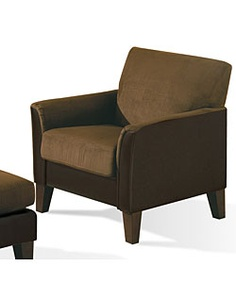 @Overstock - Enhance your home decor with this elegant Bailey arm chair Stylish living room furniture features contemporary styling Comfortable chair has a tight seat back with flared armshttp://www.overstock.com/Home-Garden/Bailey-Two-tone-Mocha-Dark-Chocolate-Chair/3072682/product.html?CID=214117 $238.99