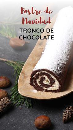 Christmas Party Food, Xmas Food, Christmas Appetizers, Christmas Desserts, Christmas Treats, Chocolate Roll Cake, Chocolate Desserts, Cake Decorating Techniques, Cake Designs