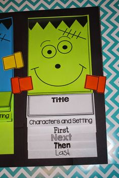 Hello! I just wanted to write a quick post to let you know that Frank is in town motivating authors to write their little brains out. {see what I did there} Franken Authors There are many different ways to use this flip up book! Reading Response- Seasonal Story Summary (October themed book) Original Student Writing …