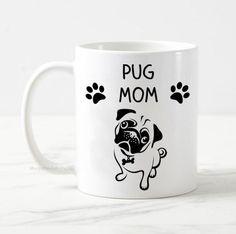 Pug mom mug, pug dog mug, dog owner gift, pug mug, gift for her, best dog mom, funny dog mug, cute dog mug, cute pug mug, cute pug puppy mug Cute Pug Puppies, Cute Pugs, Pug Mug, Gifts For Dog Owners, Dog Mom, Funny Dogs, I Shop, Gifts For Her, Mugs