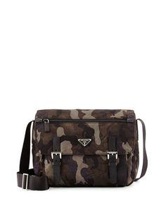 6ef4362e32 Tessuto Camouflage Messenger Bag