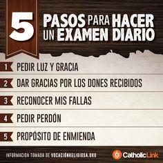 Biblioteca de Catholic-Link - Infografía: 5 pasos para hacer un examen de...